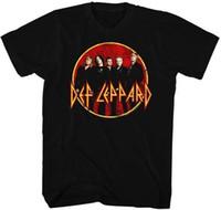 хард-рок-группы оптовых-Групповое фото Def Leppard Английский Rock Band Heavy Metal Hard Rock для взрослых T-Shirt
