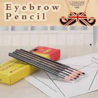 Wholesale dark brown eyes makeup online - 5 Colors Long Lasting Eyebrow Pencil Waterproof Eye Brow Pen Makeup Tool Dark Light Coffee Black Grey Red Brown CCA8673