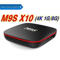 Wholesale best android set top box resale online - Factory Sale Best M9S X10 Smart Set Top Box Android TV Box IPTV RK3229 Quad Core GB GB Better MXQ Pro K S905W S912