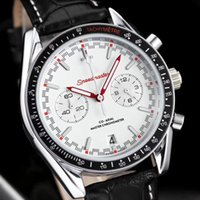 Wholesale swiss quartz mens watches - Swiss Brand Aaa Quality Mens Luxury Watches OMG Sea 316L Stainless Steel Master All Funtional Chronograph Movement Original Leather Band