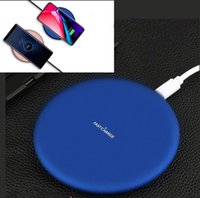 Wholesale Fast Thin - New Wireless Charging for Samsung & Iphone X Mobile 9V Fast Charging Metal Ultra Thin Wireless Charger Stand Pad for Apple IPhone