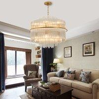 ingrosso vetro lucido-Youlaike Modern Luxury Glass Chandelier illuminazione per il salone d'oro appesa per le lampade a LED pranzo Camera Luster De Cristal