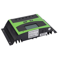 Wholesale solar panel charge controller regulator online - Freeshipping New LCD A V V Autoswitch Solar Panel Battery Regulator Charging Controller
