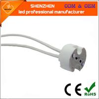 adaptateurs mr16 achat en gros de-GU5.3 Support de lampe en céramique MR16 Support de lampe de projecteur