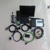 Wholesale used diagnostic tools - for mb star sd compact c5 automotive diagnostic tool with 320gb hdd with laptop x200t touch screen ready to use