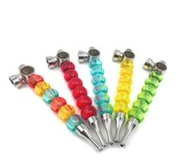 Wholesale six flash resale online - Creative lamp six transparent plastic bead bead flash pipe LED light pipe