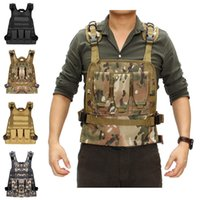 Wholesale military carrier resale online - Outdoor Hunting Military Tactical Vest Body Armor Jungle Equipment Plate Carrier With Pouches Army Fans Tactical