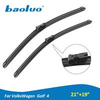 "Wholesale Volkswagen Auto Accessories - BAOLUO Car Windshield Wiper Blades For Volkswagen Golf 4 21""+19""Soft Natural Rubber Windscreen Wipers Auto Accessories"