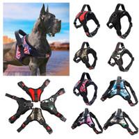 colarinho venda por atacado-11colors Pet Dog Vest Arnês Collar desporto ao ar livre Sem Puxar Ajustável Chest Suprimentos Peito FFA285 30 pcs