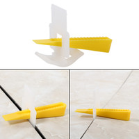Wholesale 500 Clips Wedges Floor Wall Tile Leveler Spacers Flat Tile Leveling System Home Construction Setting Tools