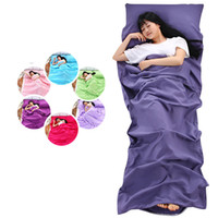 Wholesale fitted bedspreads twin - Solid color travel hotel dust-proof sleeping bag bed Sheet