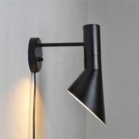 Wholesale Louis Poulsen Light - Creative Modern designwall lamps arne jacobsen sconce replica Vintage Loft lamp louis poulsen AJ Wall lamp white black Fixtures lighting