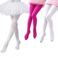 calcetines de pantimedias pies al por mayor-80D Velvet Calzoncillos para niños Calzado deportivo para niños Medias de niña Medias de baile de ballet Leggings de alta calidad15 colores 3 tamaños