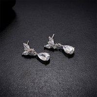 einfache brautschmucksets großhandel-Einfache japanische und koreanische Art-Halsketten-Ohrring-Satz-Hochzeits-Brautparty-Schmucksache-Set Dress Up Halsketten-Ohrringe