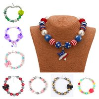 Wholesale gift christmas jewellery for sale - Group buy Childrens Jewelry Pendants Chunky Necklace Kids Girls Christmas Gifts Bubblegum Beads Jewellery Toddler Cartoon Acrylic Chain Necklace S