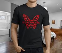 beliebte faltmesser großhandel-Neues populäres Benchmade Griptilian faltendes Messer-Mann-schwarzes T-Shirt S-3XL 2018 Qualitäts-Marken-Mann-T-Shirt zufälliger kurzer Ärmel