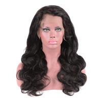 human hair wigs toptan satış-Vücut Dalga Dantel Ön Peruk Brezilyalı Bakire Insan Saçı Tam Dantel Kadınlar için Peruk Doğal Renk