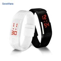 Wholesale shark sport watch digital - Korean Lovers Men Women Watches LED Digital Watch Electronic Wristwatches Creative Calendar Colorful Rubber Smart Montre Femme