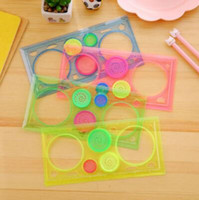 Wholesale learn arts online - Painting Multifunctional Puzzle Spirograph of Children s Drawing Plastic Ruler Students Drawing Toys Kids Learning Art Tools CCA9924