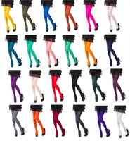 calcetines calientes para mujer al por mayor-Las mallas para mujer eligen entre 25 colores de moda 120 Denier New Warm Women Medias Pantimedias Medias Medias Opaco grueso Color sólido