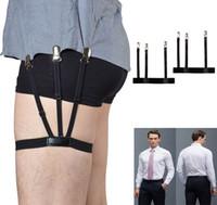 ingrosso cintura elastica verde-Cinghia di ricambio per camicia da uomo regolabile da 1 paio con morsetti di bloccaggio antiscivolo Portautensili da camicia di nylon regolabile regolabile resistente alla piega1a14