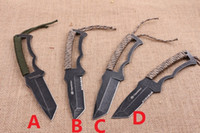 Wholesale browning multi tool knife resale online - Browning fixed Survival outdoor Camping Survival Hunting knife EDC Multi Purpose tool Defense HRC CR15MOV BLADE full blade halftooth