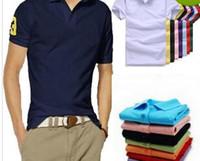 Wholesale Organic Shirts - Hot luxury New Brand crocodile embroidery Polo Shirt Men Short Sleeve Casual Shirts Man's Solid Polo t shirt Plus Camisa Polo