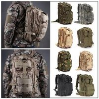 Wholesale Wholesale Military Backpacks - 12 Colors 30L Hiking Camping Bag Military Tactical Trekking Rucksack Backpack Camouflage Molle Rucksacks Attack Backpacks CCA9054 30pcs