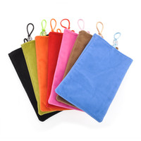 Wholesale velvet textiles for sale - Group buy Universal Velvet Flannelette Mobile Phone Soft Cloth Bag Pouch Sleeve Case Cove for iPhone x Galaxy S9 S8 Power Bank