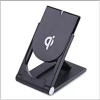 iphone holder şarj yuvası toptan satış-Yüksek Kalite Evrensel Qi Kablosuz Şarj Için ayarlanabilir Katlanır Tutucu Standı Dock Samsung S7 S8 Kenar Artı Not 8 Iphone 8 X MQ100