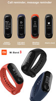 Wholesale heart rate pulse meter - Original Xiaomi Mi Band 2 3 Smart Fitness Bracelet watch Wristband Miband OLED Touchpad Sleep Monitor Heart Rate Mi Band2 Free Screen Film