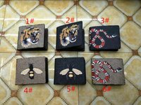 Wholesale tiger cards - 2018 New women wallet animal fashion Credit card bag classic Zero wallet Tiger bee snake wallet bags hand bag purse