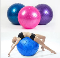 Wholesale stability exercises online - 65cm yoga stability ball point massage balls inflatable yoga exercise balls pilates fitness ball balancing trainer ball