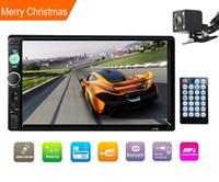 автомобильный сенсорный экран оптовых-Double Din Stereo, 7-дюймовый автомобильный стерео с сенсорным экраном, встроенным в Bluetooth, с камерой заднего вида / FM-тюнером, HD-радио, подходящее для напряжения 12 В (без DVD GPS Navi