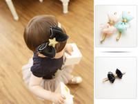 Wholesale girl head ribbon bow for sale - Group buy Girls Hair bows Head band Hair ornaments Ribbon Star Princess Pink Party Hair accessories