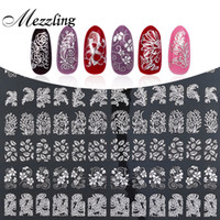 Wholesale Metallic Nails Stickers - 3D Nail Art Stickers Decals,108pcs sheet High Quality Silver Metallic Mix Flowers Designs Nail Tips Accessories Decoration Tools