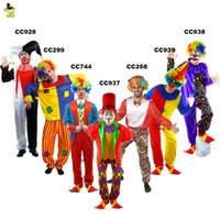 weibliches wunder cosplay großhandel-Deluxe plus halloween kostüm erwachsene lustige zirkus clown kostüme magie show clown anzug V für Vendetta maske party joker kleid