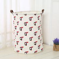Wholesale wire basket wholesale - 40x50cm Large Laundry Bag Canvas Animal Pattern Washing Laundry Basket Hamper Storage Dirty Clothing Bags Toy Storage Bag