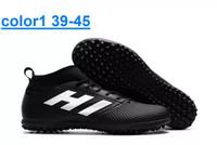 messi botas negras baratos al por mayor-¡CALIENTE! Nueva salida de fábrica Outlet ACE 17.3 Primemesh TF botas de fútbol de los hombres de alta calidad barato al aire libre césped suave punta de zapatos de fútbol para hombre