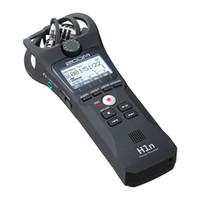 ingrosso penne di registrazione audio-ZOOM H1N Handy Recorder Fotocamera digitale Registratore audio Microfono stereo per intervista SLR Recording Microphone Pen Handy