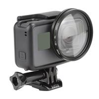 pro schwarze kamera großhandel-Neue 52mm GoPro Lupe 10x Vergrößerung Makro Nahaufnahme Objektiv für GoPro Hero5 Schwarz Kamera Go Pro Hero 5 Zubehör