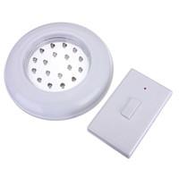 control remoto inalámbrico al por mayor-Blanco 18 LED inalámbrico inalámbrico de techo de pared luz escalera armario con pilas bombilla lámpara con interruptor de control remoto