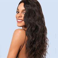 волнистые девственные индийские remy волосы оптовых-Индийский Реми парик человеческих волос 250% плотность Свободная волна волнистые полный кружева фронт парик природных предварительно сорвал девственные индийские парики волос без клея крышка
