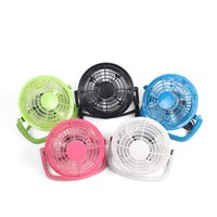 Wholesale air conditioned computer - USB Mini Fan Powered Notebook Desktop Cooling Fan Cooler Plastic Air Conditioning Appliances For PC Laptop Computer Black 4 Inch