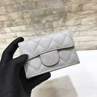 Wholesale custom sheepskin - Custom made Quality Women's bag Fashion Wandering Wallets Genuine Leather sheepskin  caviarCard Holder Mini Bag Wallets 2018 Female Coin P