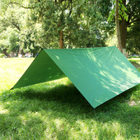 Wholesale Ultralight Tents Backpacking - Wholesale- Ultralight Portable Waterproof Camping Tent Outdoor Anti-UV One Bedroom 3-4 Person Tent Tarp Shelter with 6 Pegs and Storage bag