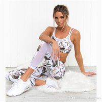1f48076314 Wholesale Free Shipping Exercise Fitness Running Mesh Printing Patchwork Workout  Sport Clothing Yoga Wear Pants Sets