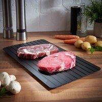 Wholesale Friendly Fast - Black Fast Thawing Plate Square Defrost Meat Frozen Tray Safety Metal Aluminum Mat Kitchen Tools For Home 35yy B