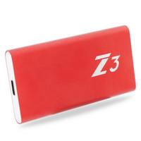 ssd masaüstü bilgisayar toptan satış-KingSpec Harici SSD 256 GB Kırmızı Kılıf Z3-256 Tip-c USB 3.1 Taşınabilir SSD 240 GB USB3.1 Arayüzü HDD Dizüstü Masaüstü Tablet PC Için