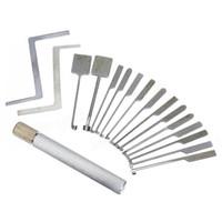 schlosserwerkzeuge grübchenschlösser großhandel-GOSO 14 Stück Dimple Verschluss-Auswahl-Set mit austauschbarem Griff - qualifizierte GOSO Bauschlosser-Werkzeuge